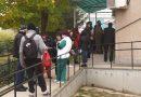 (Видео)Опашка от хора пред ваксинационния пункт на РЗИ в Кюстендил